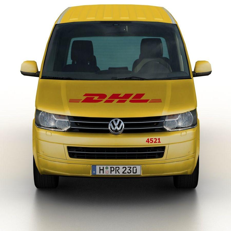 Volkswagen T5 Transporter DHL 2011 royalty-free 3d model - Preview no. 4