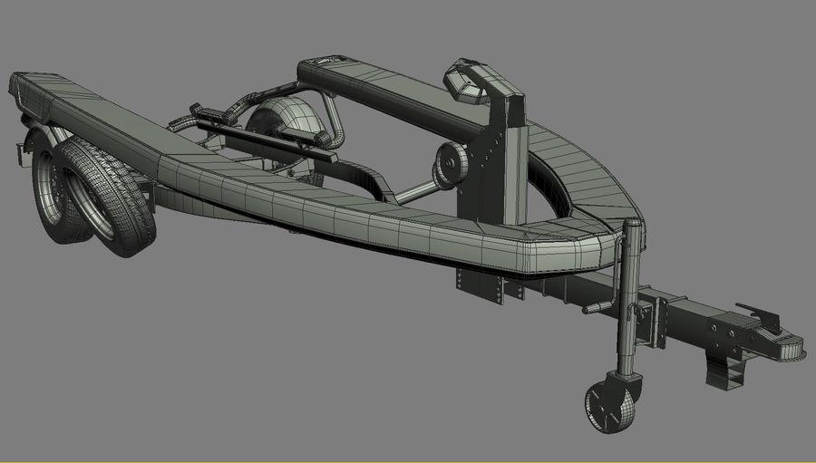 Jet Ski Trailer SEA-DOO royalty-free 3d model - Preview no. 12