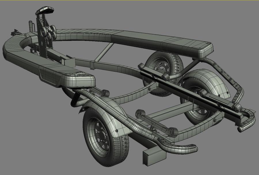 Jet Ski Trailer SEA-DOO royalty-free 3d model - Preview no. 14
