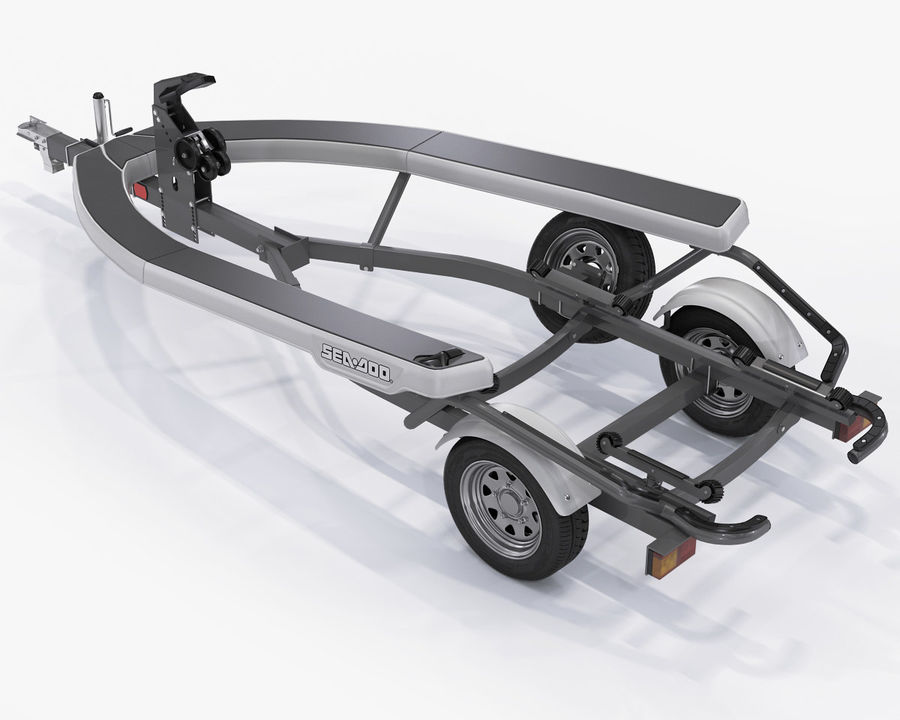 Jet Ski Trailer SEA-DOO royalty-free 3d model - Preview no. 2
