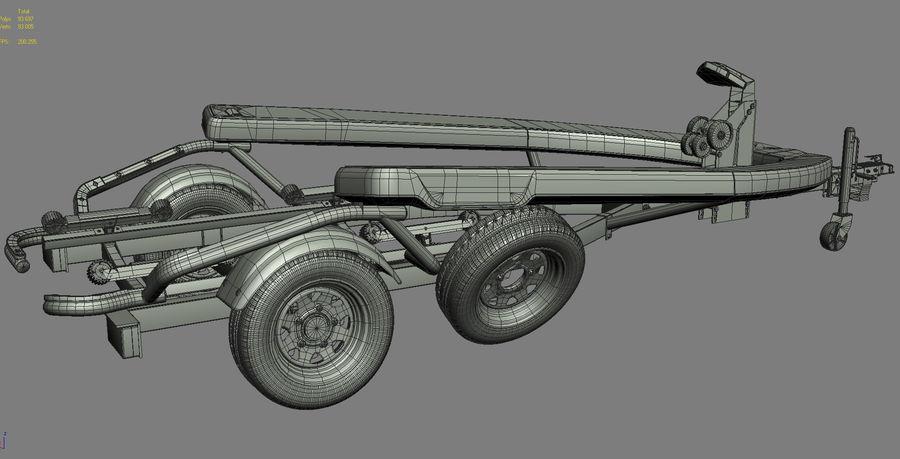 Jet Ski Trailer SEA-DOO royalty-free 3d model - Preview no. 16