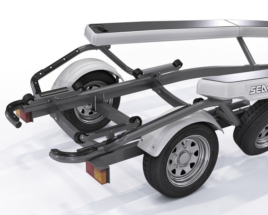Jet Ski Trailer SEA-DOO royalty-free 3d model - Preview no. 6