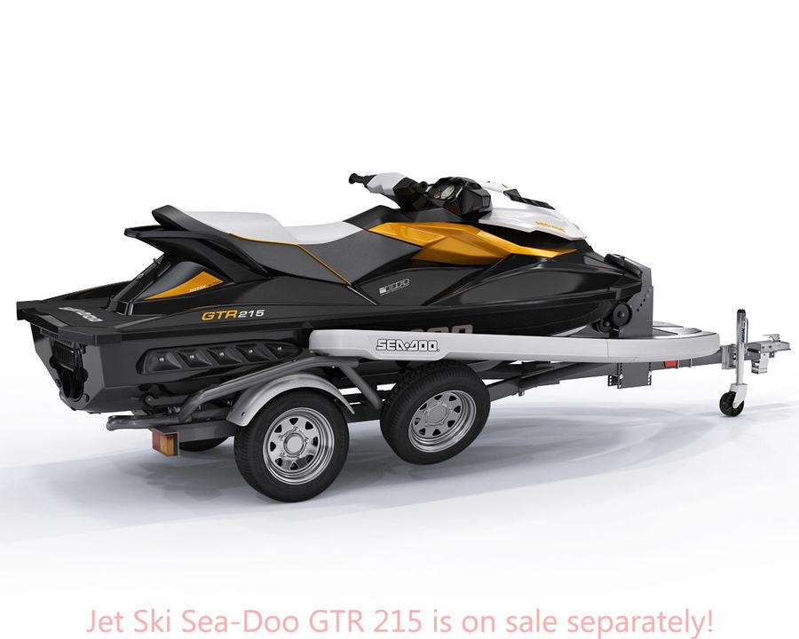 Jet Ski Trailer SEA-DOO royalty-free 3d model - Preview no. 7
