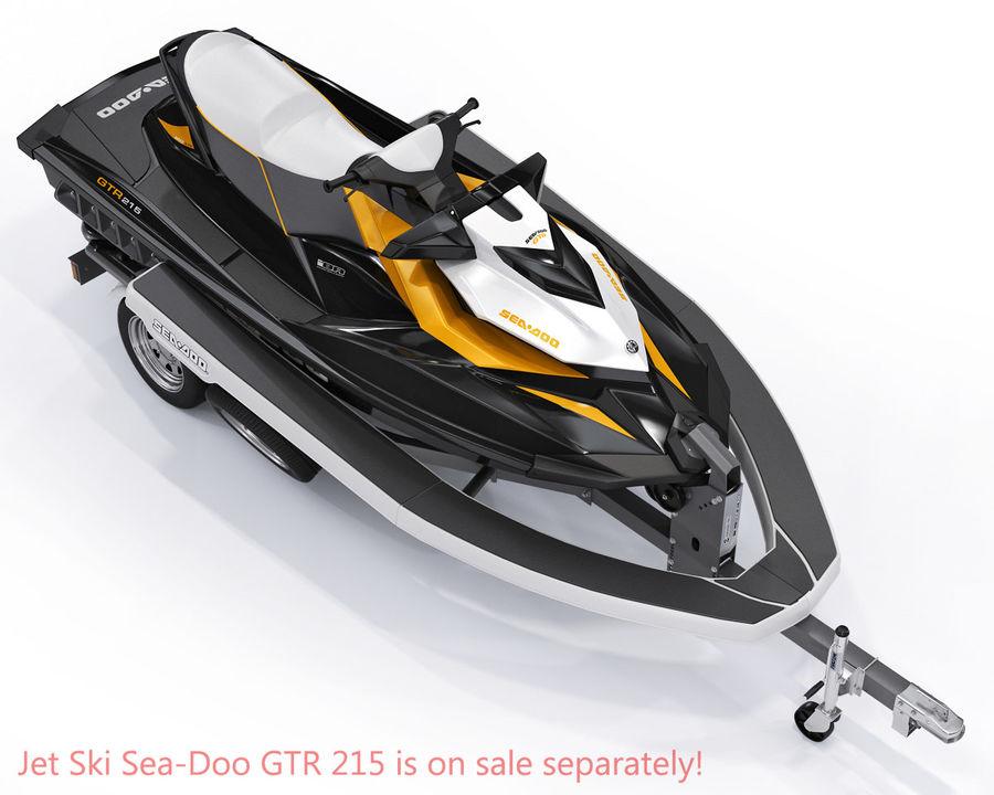 Jet Ski Trailer SEA-DOO royalty-free 3d model - Preview no. 9