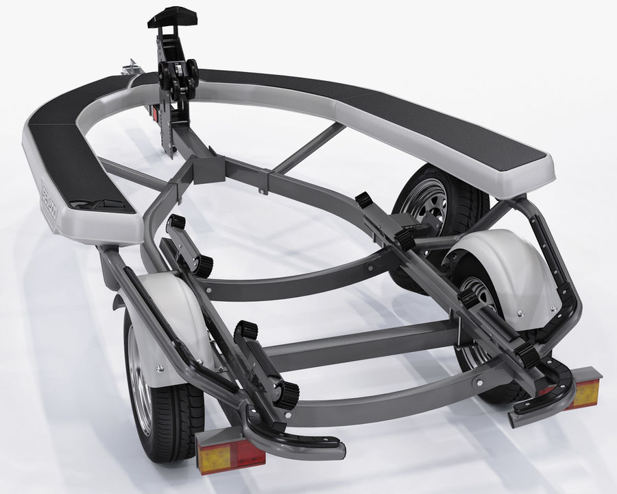 Jet Ski Trailer SEA-DOO royalty-free 3d model - Preview no. 4