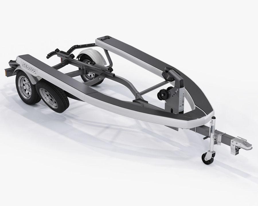 Jet Ski Trailer SEA-DOO royalty-free 3d model - Preview no. 15