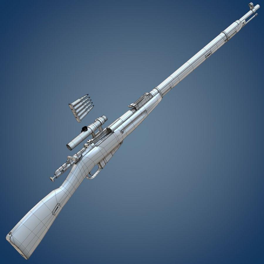 Kapsamlı Mosin tüfek royalty-free 3d model - Preview no. 9