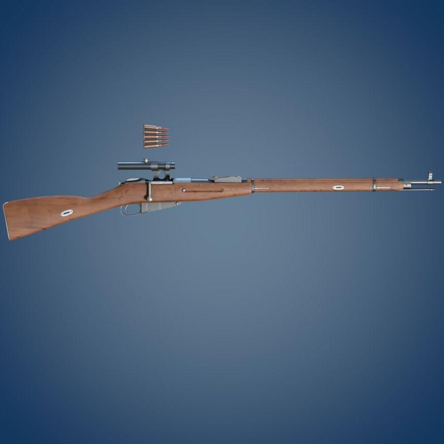 Kapsamlı Mosin tüfek royalty-free 3d model - Preview no. 3