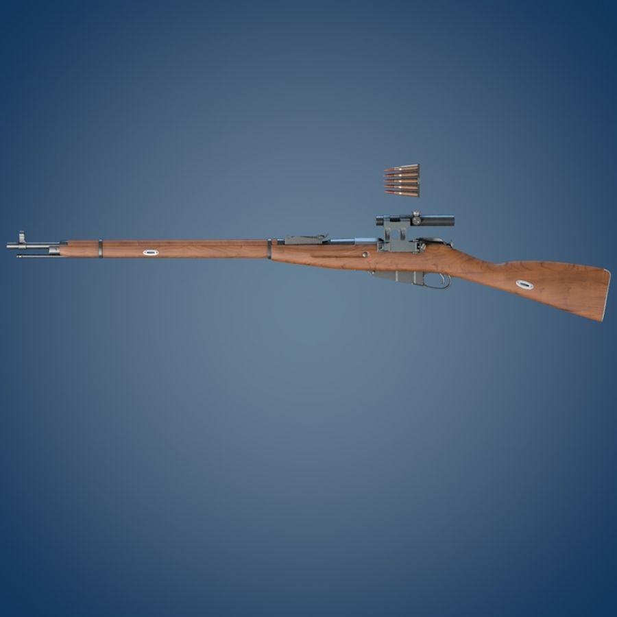 Kapsamlı Mosin tüfek royalty-free 3d model - Preview no. 4