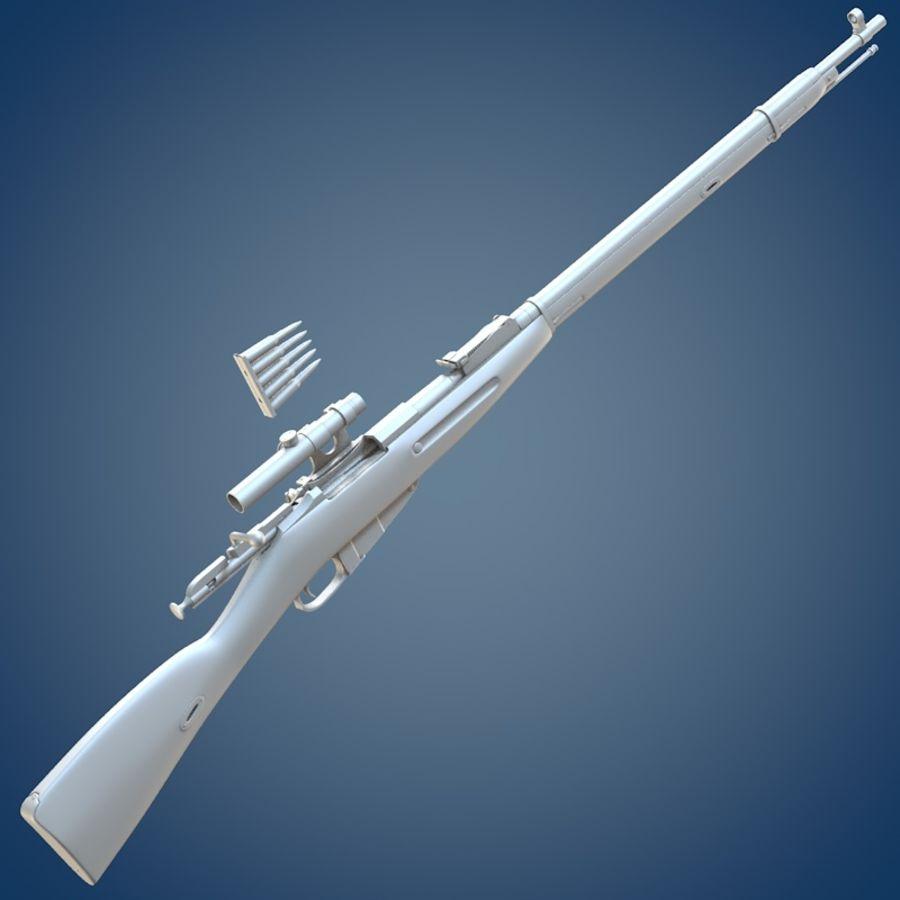 Kapsamlı Mosin tüfek royalty-free 3d model - Preview no. 7