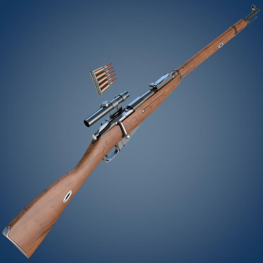 Kapsamlı Mosin tüfek royalty-free 3d model - Preview no. 1