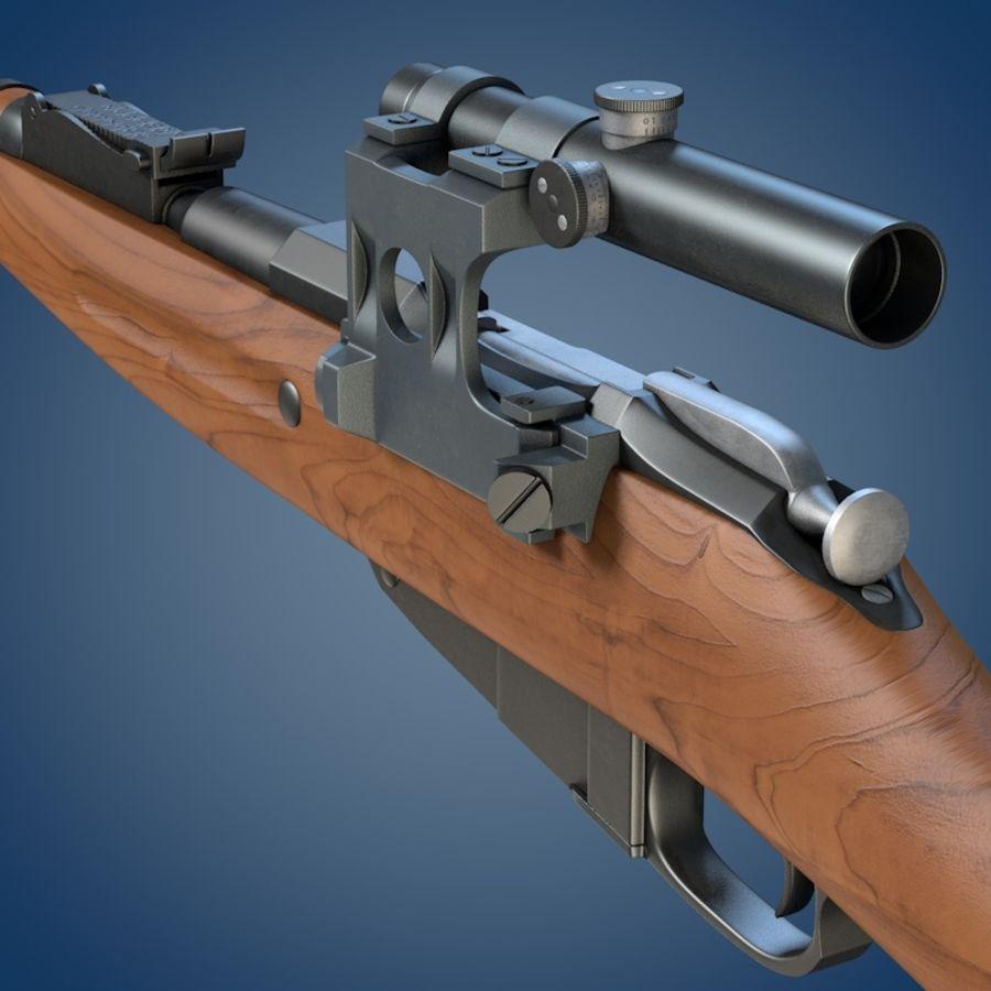 Kapsamlı Mosin tüfek royalty-free 3d model - Preview no. 5