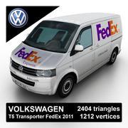 Volkswagen T5 Transporter FedEx 2011 3d model