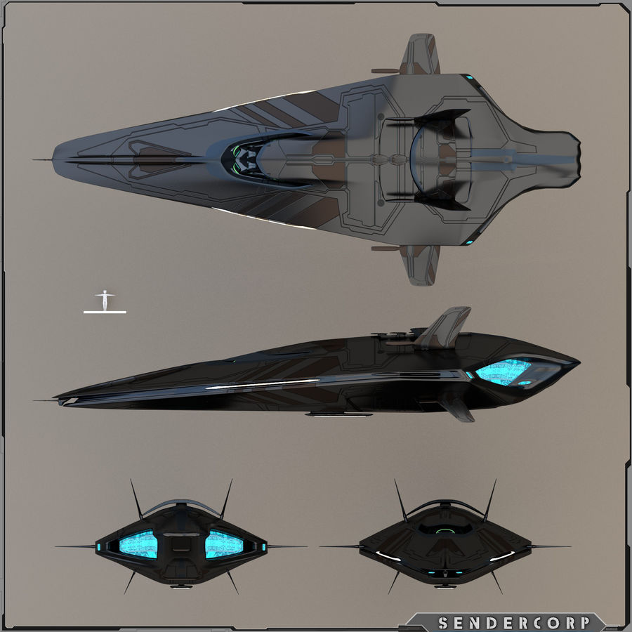 R3 Neeb Cruiser royalty-free 3d model - Preview no. 2