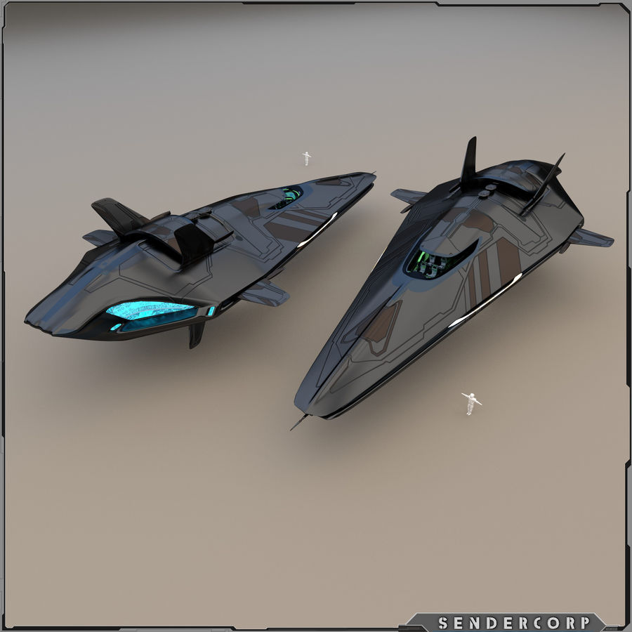 R3 Neeb Cruiser royalty-free 3d model - Preview no. 3