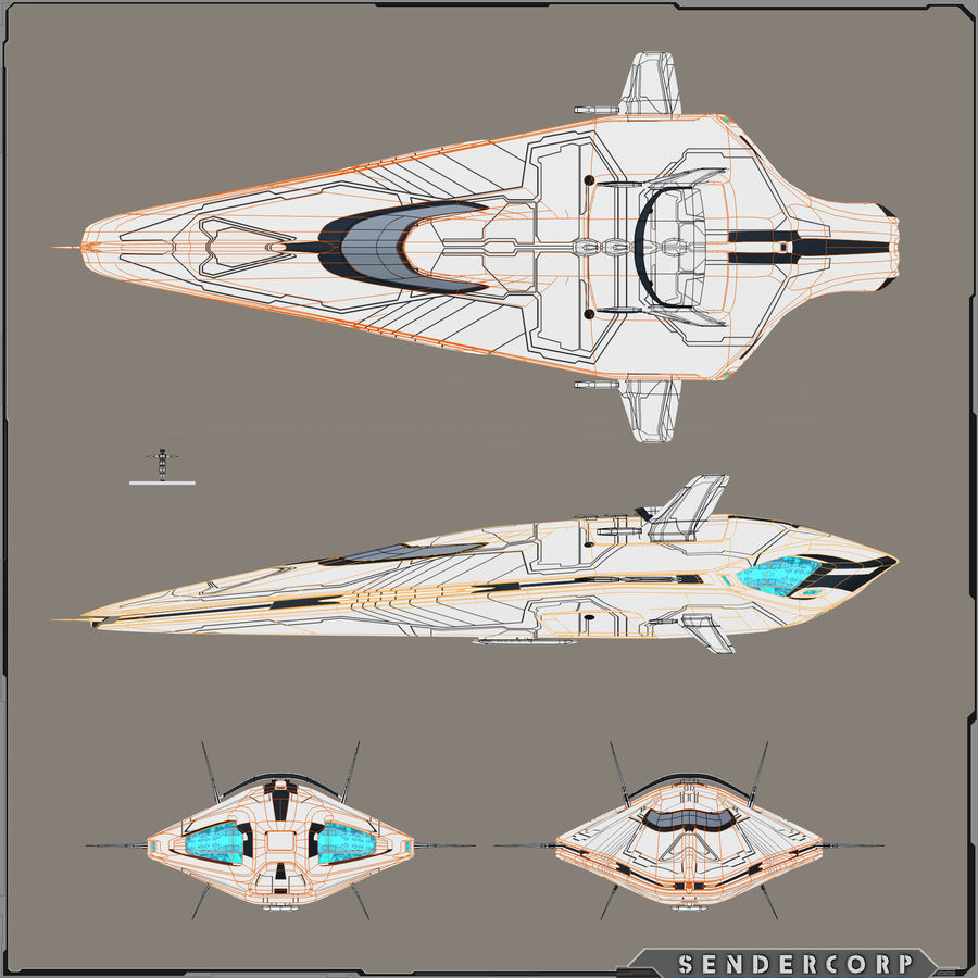 R3 Neeb Cruiser royalty-free 3d model - Preview no. 6