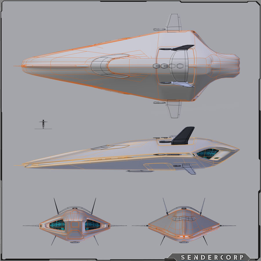 R3 Neeb Cruiser royalty-free 3d model - Preview no. 5