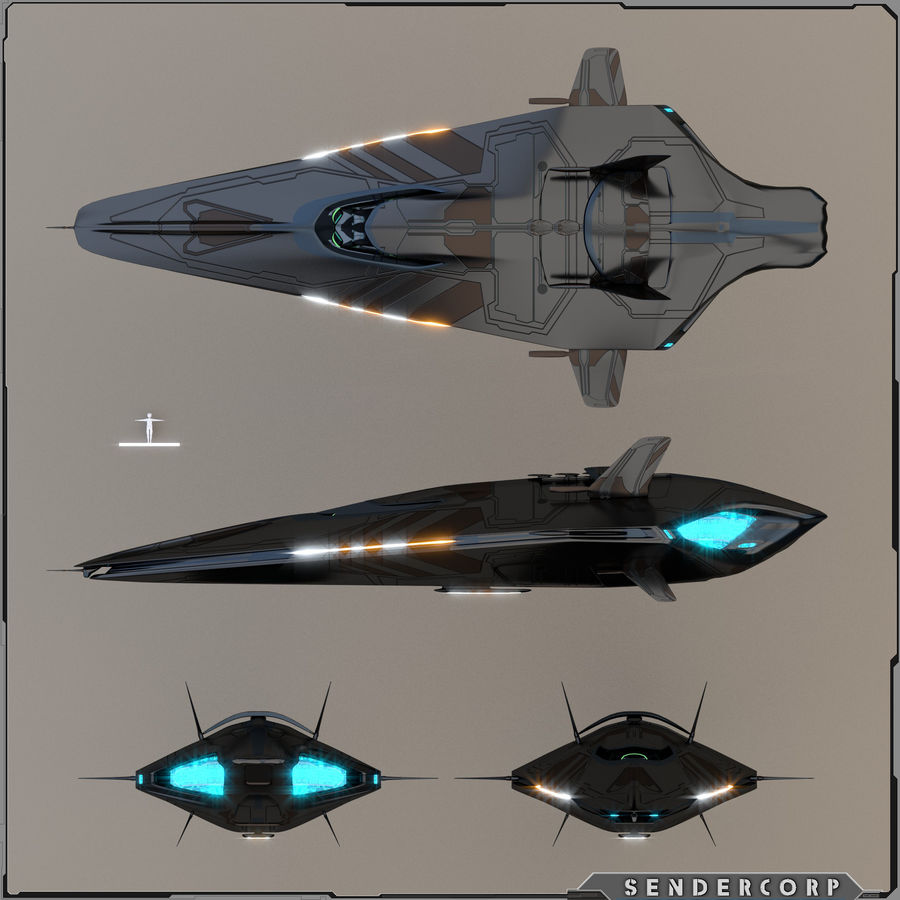 R3 Neeb Cruiser royalty-free 3d model - Preview no. 4