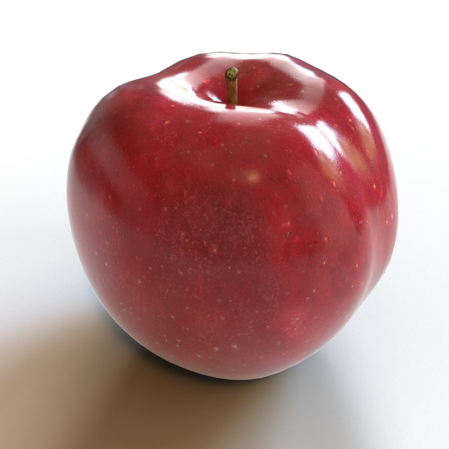 Apple Red royalty-free 3d model - Preview no. 5