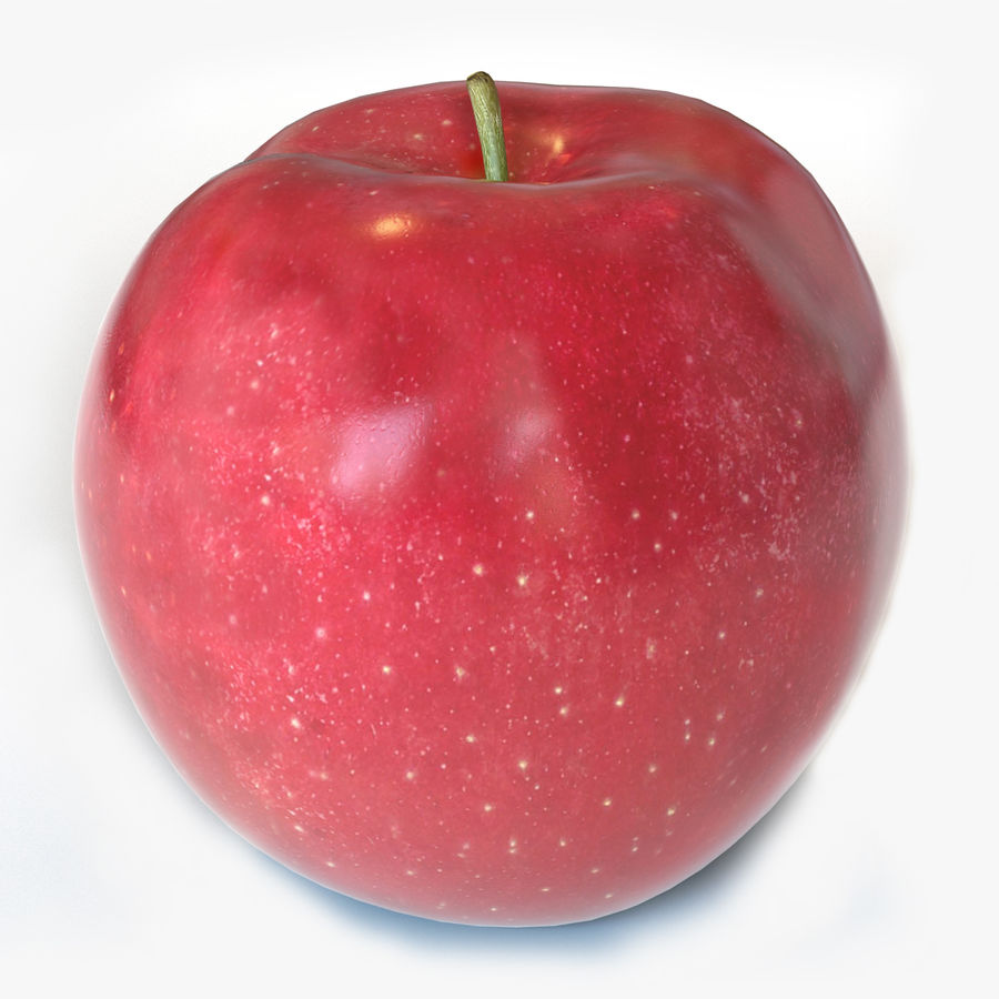 Apple Red royalty-free 3d model - Preview no. 1