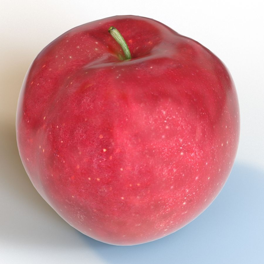 Apple Red royalty-free 3d model - Preview no. 16