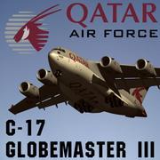C-17 Globemaster III卡塔尔 3d model