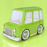 卡通旅行车 3d model