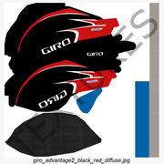 Capacete de corrida de estrada Giro Advantage 2 Red 3d model