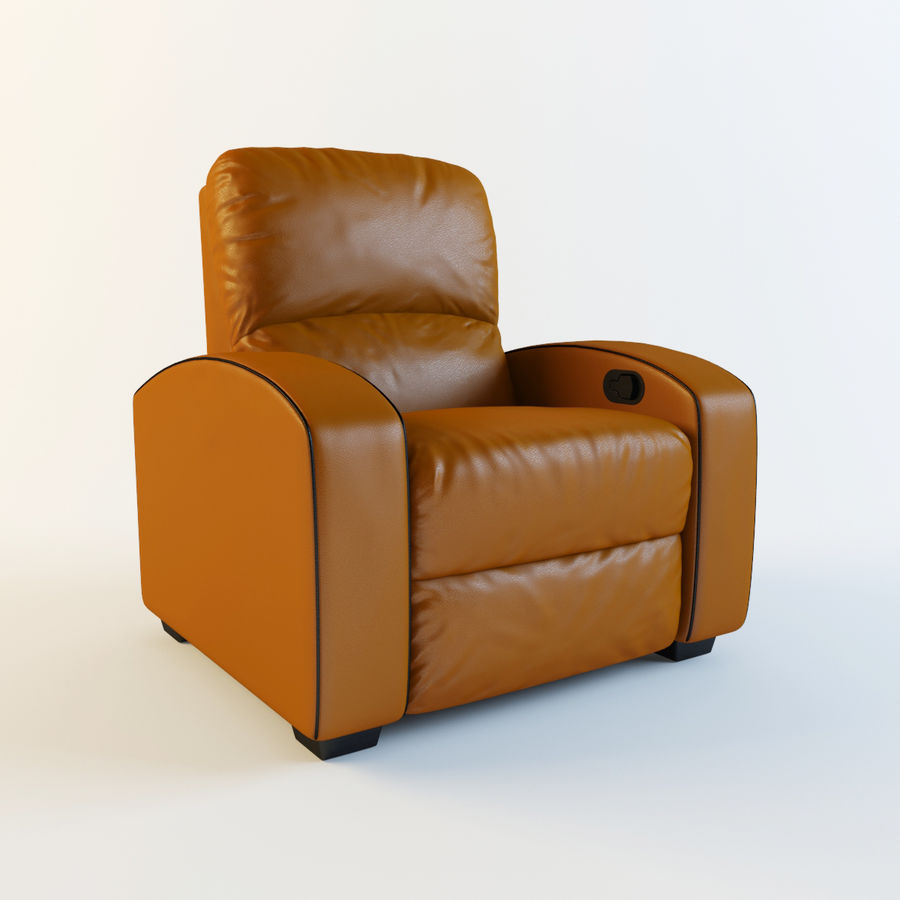 Home Theater Leather Recliner Armchair 3d Model 39 Max