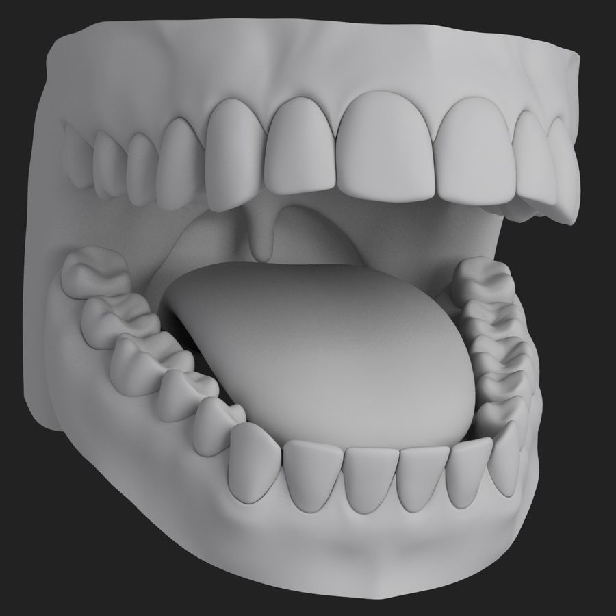 Teeth royalty-free 3d model - Preview no. 10