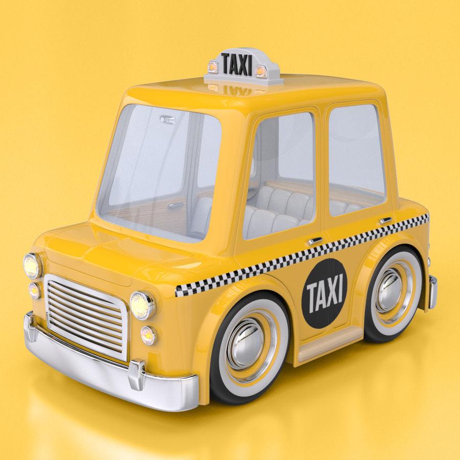 卡通出租车 royalty-free 3d model - Preview no. 1