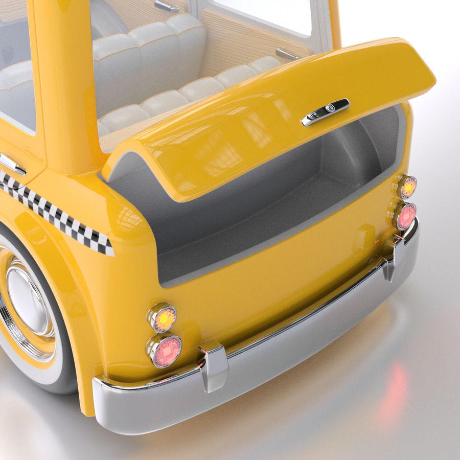 卡通出租车 royalty-free 3d model - Preview no. 7