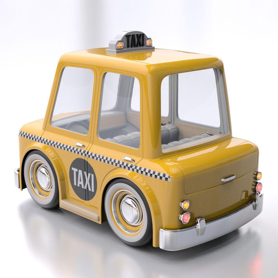 卡通出租车 royalty-free 3d model - Preview no. 3