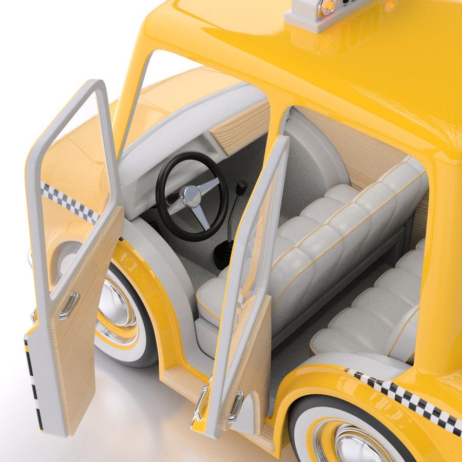 卡通出租车 royalty-free 3d model - Preview no. 5