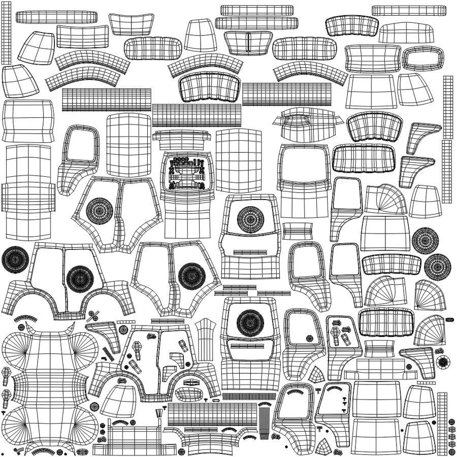 卡通出租车 royalty-free 3d model - Preview no. 11