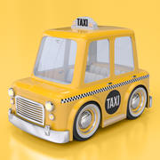 Cartoon Taxi Cab 3d model