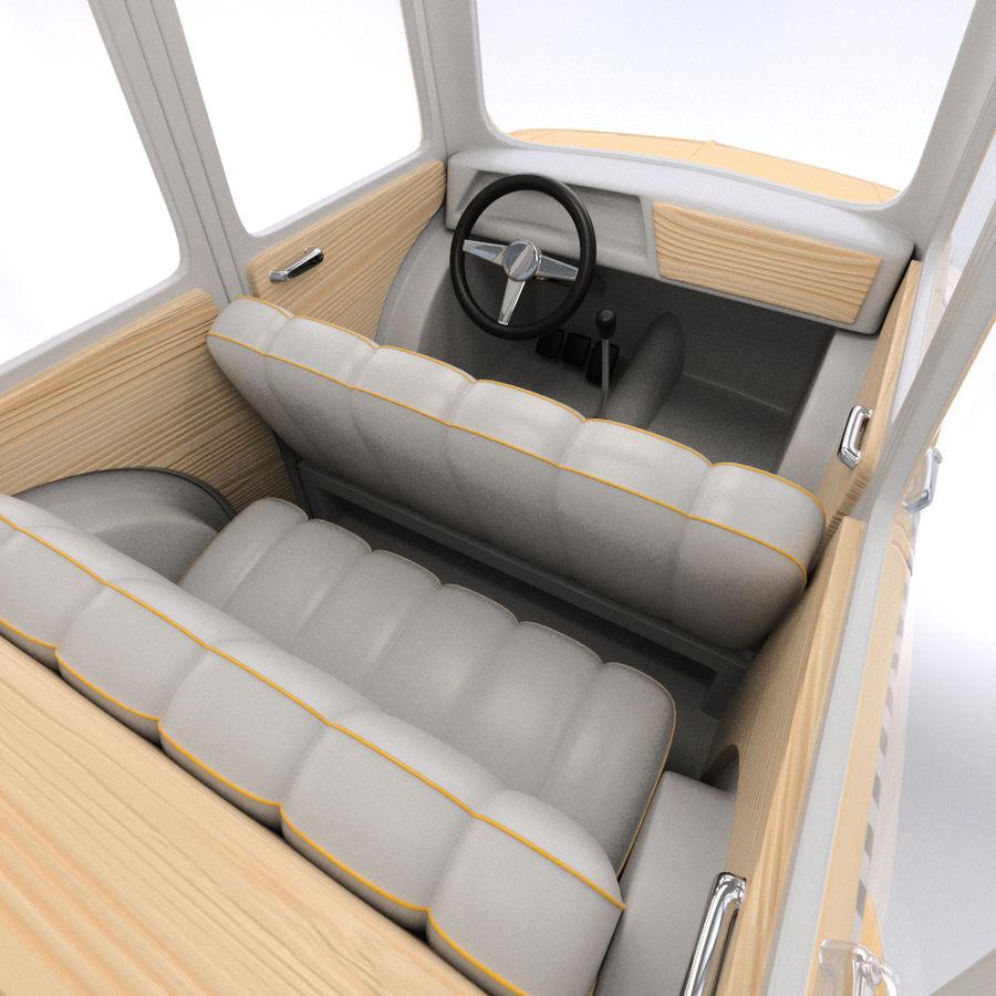 卡通出租车 royalty-free 3d model - Preview no. 9