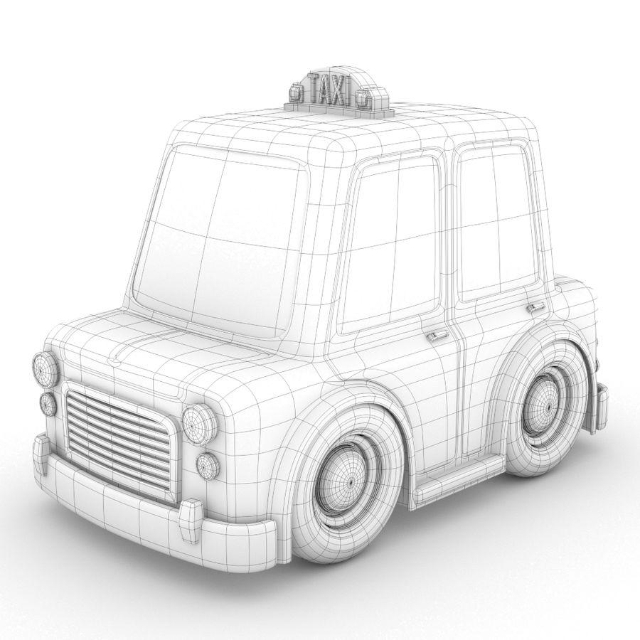 卡通出租车 royalty-free 3d model - Preview no. 2