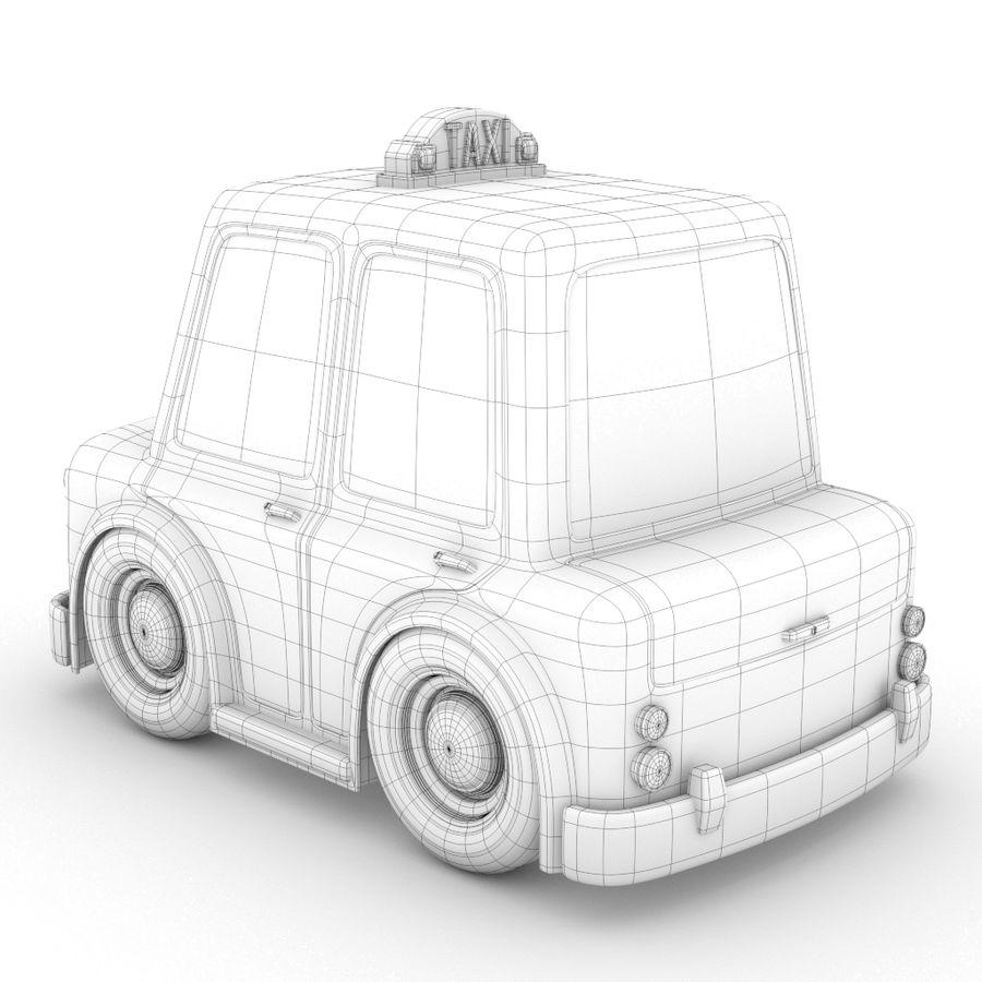 卡通出租车 royalty-free 3d model - Preview no. 4