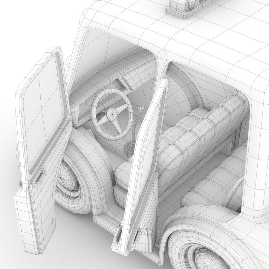 卡通出租车 royalty-free 3d model - Preview no. 6