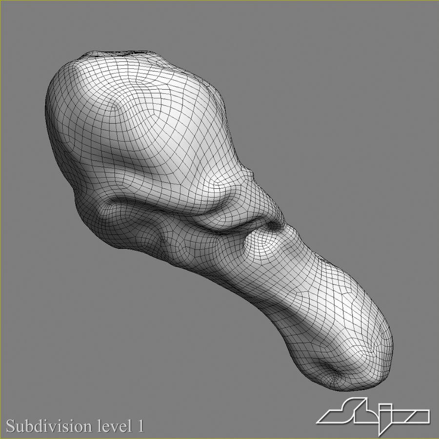 구운 닭 다리 royalty-free 3d model - Preview no. 7