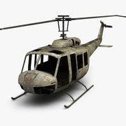 损坏的贝尔UH-1 3d model