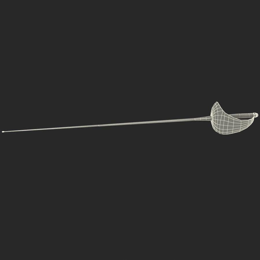 Fencing Sabre royalty-free 3d model - Preview no. 12
