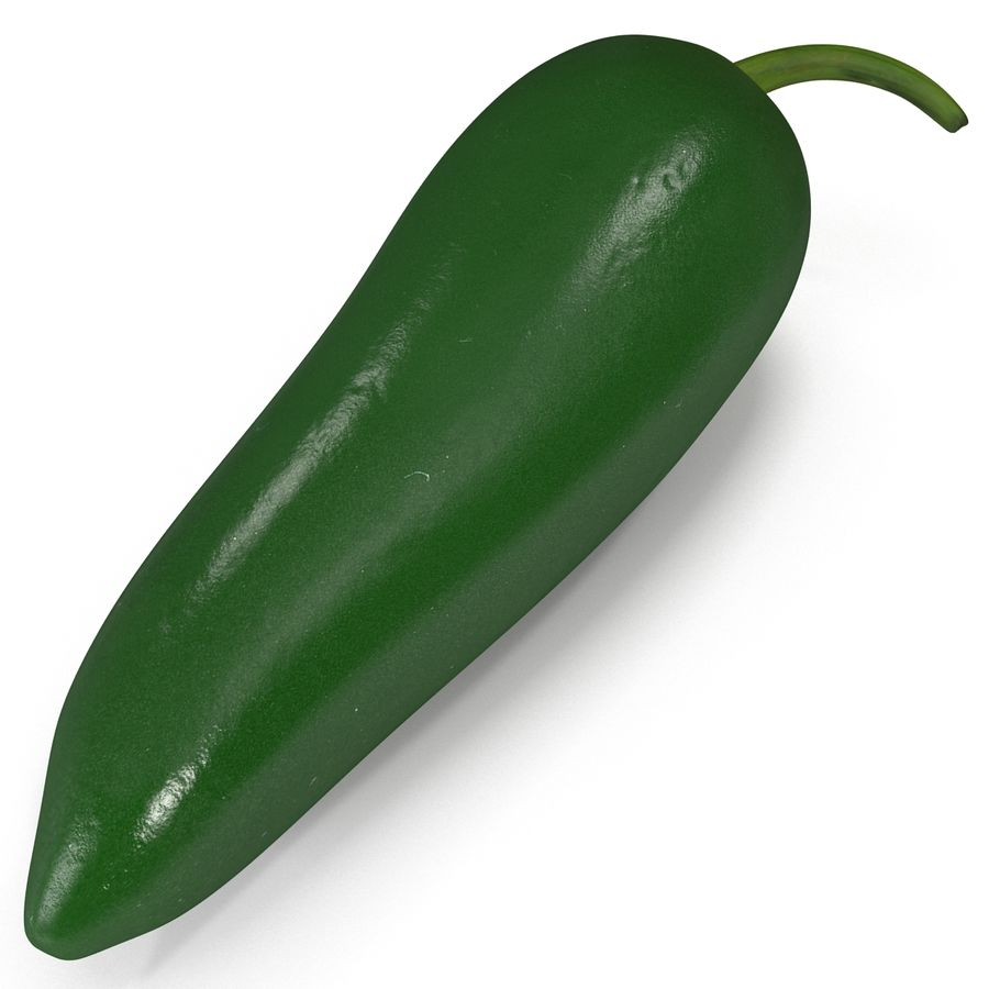 Jalapeno Pepper 2 royalty-free 3d model - Preview no. 8