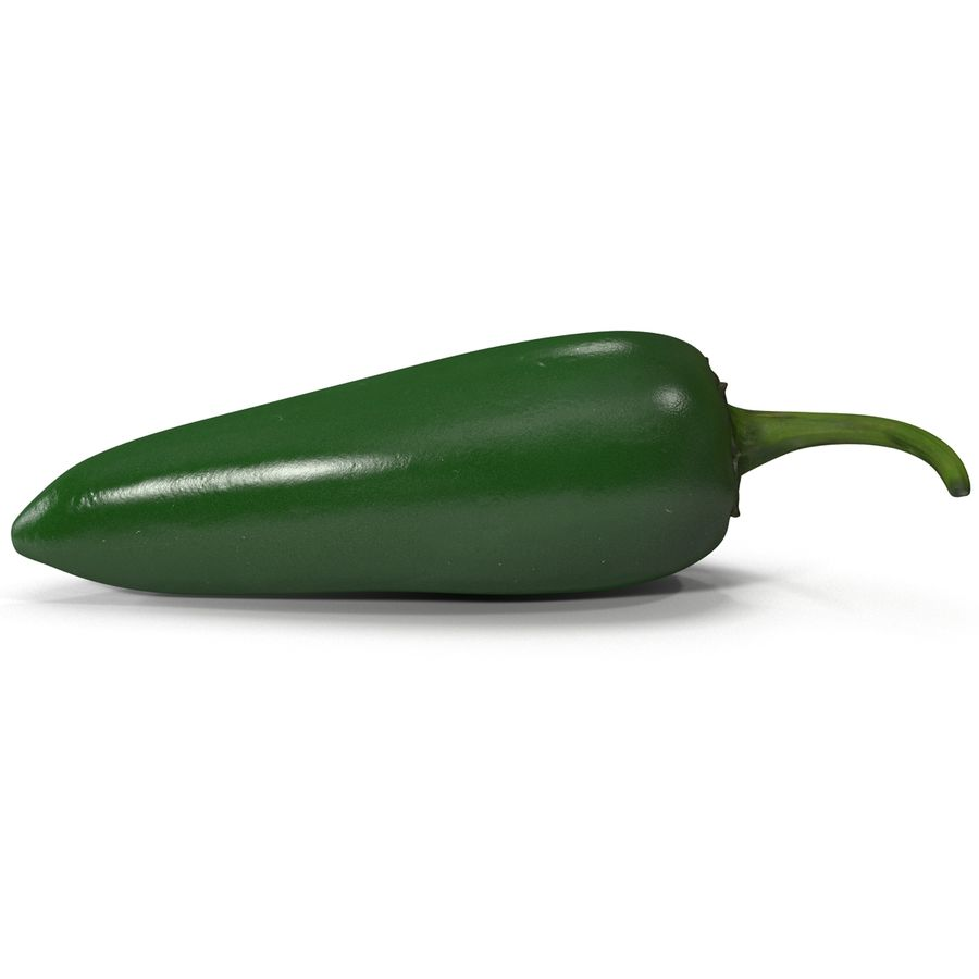 Jalapeno Pepper 2 royalty-free 3d model - Preview no. 4