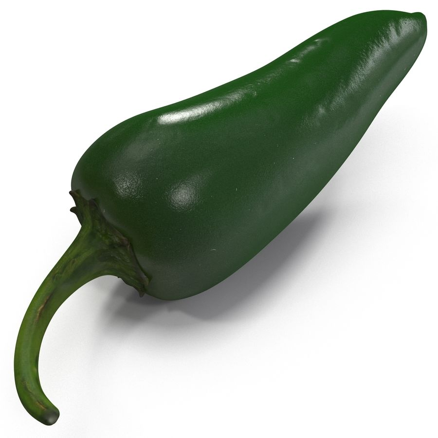 Jalapeno Pepper 2 royalty-free 3d model - Preview no. 10