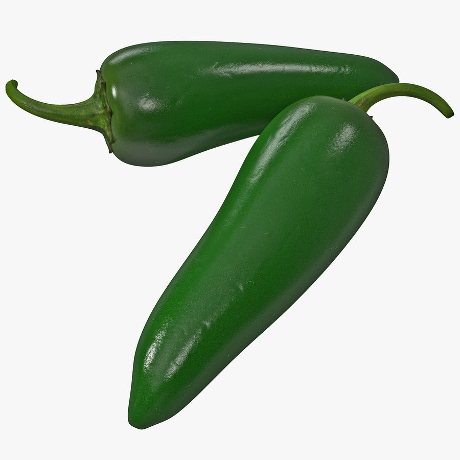 Jalapeno Pepper 2 royalty-free 3d model - Preview no. 1