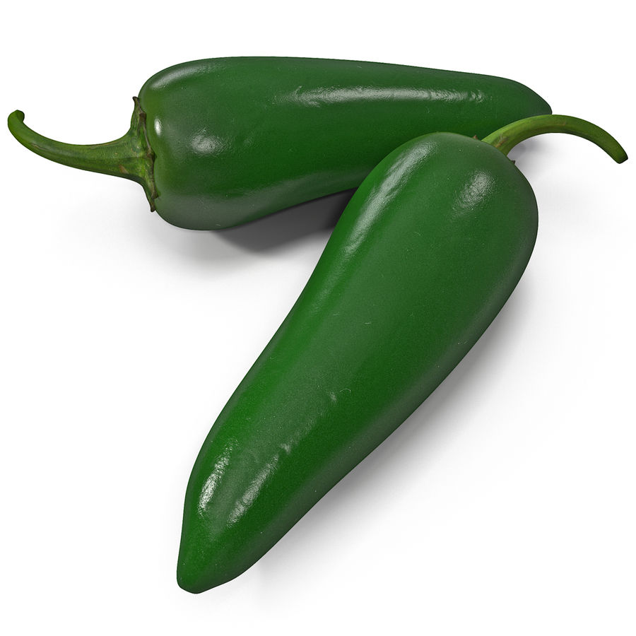 Jalapeno Pepper 2 royalty-free 3d model - Preview no. 3