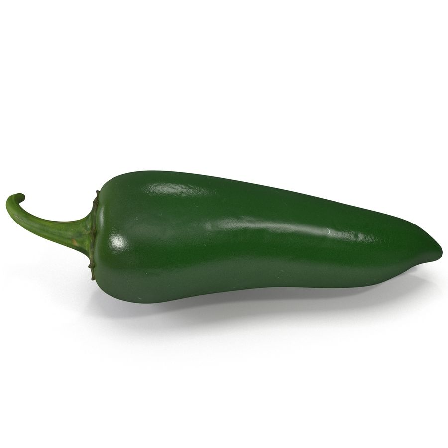 Jalapeno Pepper 2 royalty-free 3d model - Preview no. 6
