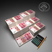 100 Yuan 3d model